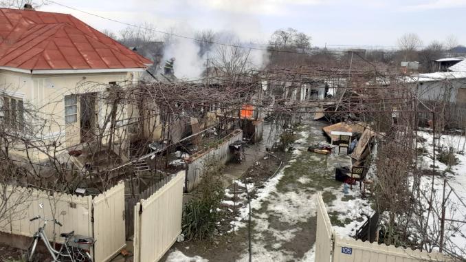 500 de kilograme de cereale și material lemnos, dispărute într-un incendiu